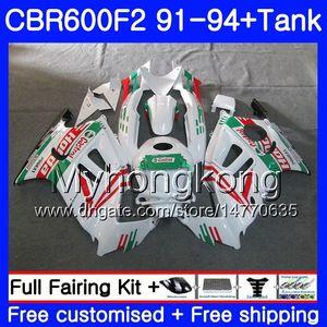 HONDA CBR 600F2 CBR600FS Için vücut + Tank CBR600F2 91 92 93 94 288HM.30 CBR 600 F2 FS CBR600 F2 1991 1992 1993 1994 kaporta kiti Castrol yeşil