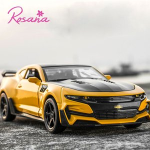 Rosana Hot Sale 1/32 Schnell Furious Diecast Spielfahrzeuge Pull Back Chevrolet Camaro Mini-Auto-Modell-Auto für Kind-Geschenk-Spielzeug Y200109
