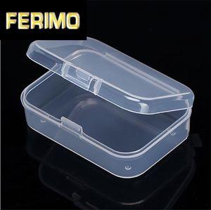 Kunststoff Platz Schmuck Aufbewahrungsbox Perlen Crafts Fall Container Kleine Kunststoffkasten mit Abdeckung freien Diamant-Display Box 30pcs