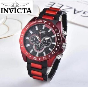 marca autorização INVICTA Clássica de alta qualidade de negócios e de lazer Calendário completo Silicone de homens relógio de quartzo ornamento pequeno mostrador