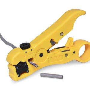 Cable Network Cutter Stripper pince à dénuder Outil plat ou rond CAT5 UTP Cat6 Fil Coax Décapage coaxial Outil 52