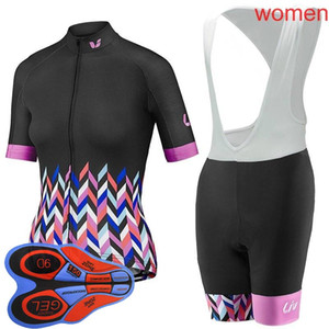 2019 Liv summer women Cycling jersey mangas cortas bib shorts sets 9D gel pad ciclismo bicicleta ropa deportiva ropa L1001