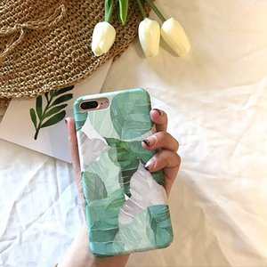 INS Celebrity Inspired Fresh Banana Leaves for Apple 11 Max XR Phone Case Hard Case for Iphone8plus 7 6S
