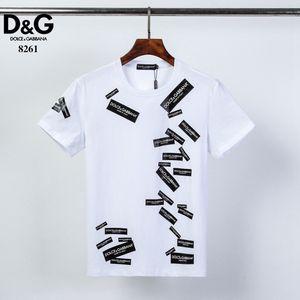Homens Verão novo produto camiseta Moda manga curta t-shirt Roupa descontraída Carta Crânio Hip Hop de impressão t-shirt novo estilo Man Clothin # 005