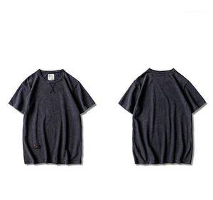 Moda O Collo T Abbigliamento Maniche corte Maschio Hommes Top Pure Color Designer Mens magliette Estate