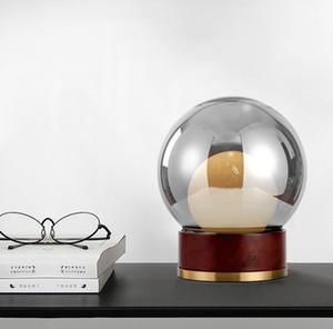 Moderne Creative Wood Art Glass Tischlampe Restaurant Hotel Bar Study Schlafzimmer Nacht Schreibtisch-Licht-TA139