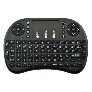 Mini Rii i8 لوحة مفاتيح لاسلكية عن بعد QWERTY Combo 2.4G Touchpad Control Black for MXQ PRO TX3 X96 MAX Mini S905W S905X2 All TV BOX