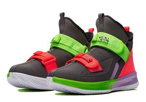 LeBrons Soldier 13 Grade school Thunder Grey hot sale With Box kids men women Basketball shoes wholesale US4-US12