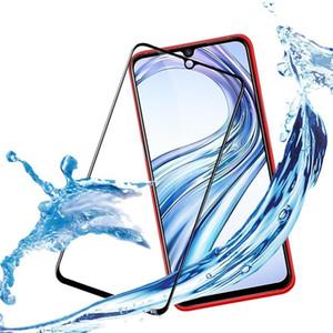 Por vivo pantalla V9 V7 V7 Plus Y69 Y67 Y55 X7 9D completa Pegamento cubierta de vidrio templado protector de la caja de iQOO vivo Neo S5 para Z5X vivo película de cristal