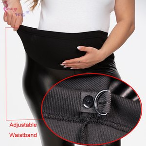 Mothers Maternity Pregnant Women Leggings SEXYWG Chaparajos Leather Pants Fashion Mom Pregnancy Pant Over Belly Clothes Mother