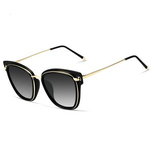 Brand Designer Design Women Sunglasses Polarized Cat Eyes Ladies Sun Driving Mirrors Colorful Fashion Glasses C19041001