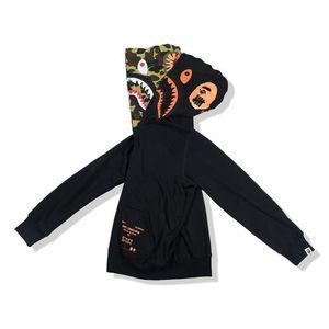 A Bathing Ape AAPE Shark incappucciato cappotto del Hoodie economici New Felpa con cappuccio Full Zip Camo giacca mimetica cappuccio calda Cardigan 02