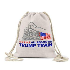 16 Styles Trump Beach Bag Storage Bag 2020 US Presidential Election Trump Campaign Pattern Shopping Bags IIA148