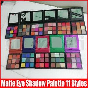 9 cores Matte Sombra Presses paleta de maquiagem sombra de olho Smokey malva elétrica Brown morno Ametista Rubi Emerald Sapphire Coral Gemstone