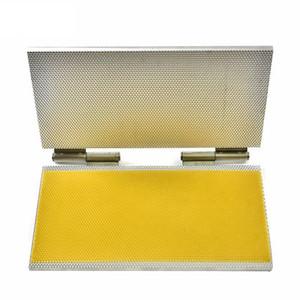 Sólido estupendo Langstroth Tamaño, Dadant Tamaño aleación de aluminio de la cera de abejas Cimientos de la máquina, la máquina portátil cera estampada para el envío libre