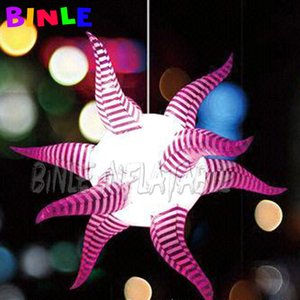 2pcs Good Sale Curly inflatable led Star for event party wedding decoration Use shining Inflatable Ceiling Light Balloon