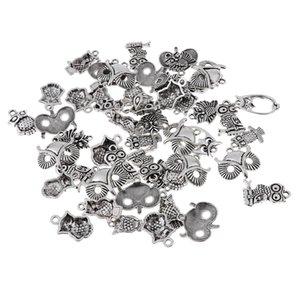 Multistyle Charms 50pcs Owl Pendentif Pour Bracelet Collier bricolage fabrication de bijoux