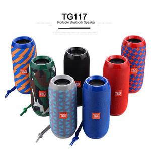TG117 Tragbare Lautsprecher drahtloser Bluetooth Lautsprecher TG117 Soundbar Outdoor Sports wasserdichte Unterstützungs-TF-Karten-FM Aux Input 1200mAh
