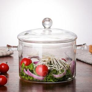 ABSS-1300Ml Creative Soup Pot Transparent Glass Cooker Salad Instant Noodle Bowl Handmade Cooking Tools Kitchen Supplies
