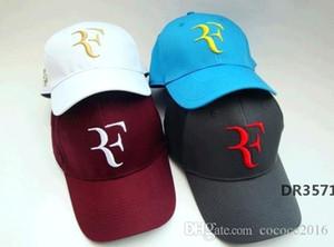 Casquillo del tenis mayor-Roger Federer tenis de Wimbledon sombreros de sol gorra de béisbol del tenis de RF han del sombrero edición hatDR3571