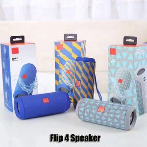 Aleta 4 portátil sem fio Bluetooth Speaker Flip4 Stereo Surround audio baixo impermeáveis Oradores suporta múltiplos Subwoofer Jogador DHL
