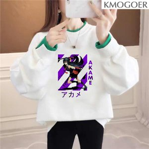 Akame Hoodie Girl Women Hoodie Winter Korean Style Fashion Famle Swearshirt Print White O-Neck Long Sleeve Women Tops