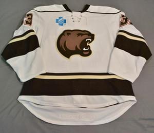 Özel forması 5XL 6XL Vintage Hershey Bears Christan Djoos Chandler Stephenson Jakub Vrana Hokeyi Jersey Nakış Dikişli özelleştirme herhangi n