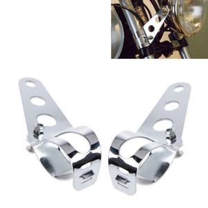 Montez les supports phares de moto universelle fourche oreille Chopper Porte-Headlamp Ajuster moteur monture à fourche Noir 28mm-43mm