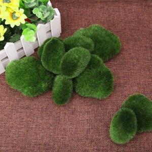 8 / 10X Paysage Vert artificielle Faux Faux Micro Moss extérieur en pierre de jardin Décor