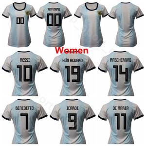 2019 Coupe du Monde Femmes Argentine Jersey 8 Bravo 11 Benegundo 16 Benitez 19 Larroquette 9 Jaimes 6 Cometti 3 Kits de chemises de football stables 3