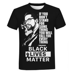 블랙 삶 물질 T 셔츠 패션 남성과 여성 t- 셔츠 짧은 소매 남여 내가 할 수없는 조지 플로이드 티셔츠 스트리트를 호흡
