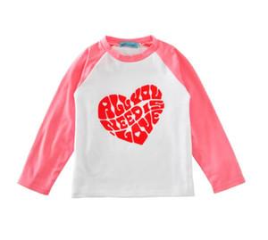 يوم رسالة حب heaty طفل رضيع بنين بنات الحب مطبوعة بلايز تي شيرت الملابس 2020 الشحن المجاني جديد