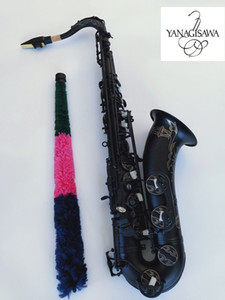 جديد وصول آلات موسيقية ياناجيساوا T-992 ب ب تينور ساكسفون عالية الجودة براس الجسم الأسود النيكل الذهب ساكس مع لسان الحال