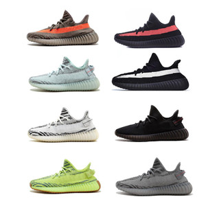 Manteiga Kanye sneakers oeste beluga cinza Running Shoes Black White Running Shoes Black Red zebra Beluga 2,0 Designer Shoes sneakers