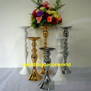 Luxus Hochzeit Mittelstücke Gold Silber Double Side Aisle Dekor stehen für Hochzeit T Station Dekorationen decor454