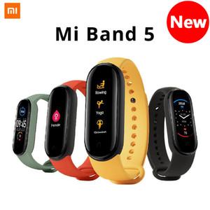 (Предпродажная) Xiaomi Mi диапазона 5 Смарт Браслет 8 цветной сенсорный экран Miband 5 Wristband Фитнес крови кислорода Track Heart Rate Monitor Smartband