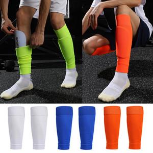 1 Çift Yükseklik Esneklik Futbol Futbol Shin Guard Yetişkinler Çorap Pedleri Profesyonel Legging Shingingard Kollu Koruyucu Dişli
