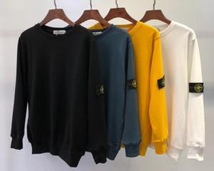 Мужчины камень толстовки с длинным рукавом свитера для мужчин роскошные Моды шею шаблон полосы шить кашемир Марка lsland свитера повседневная топы