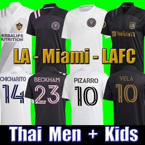 Thailand 2020 Inter Miami Beckham PIZARRO LAFC Vela Soccer Jersey 2021 Los Angeles FC LA Galaxy Chicharito Football Shirt MEN kids kits sets