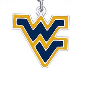 Encantos Hot Selling Sports Liga West Virginia Dangle Pendant Para DIY Braceles Brincos Colar Key cadeia de jóias Accessor