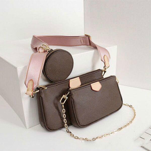 Designer de luxo multi Pochette mulheres bolsa 3set pcs bolsa navio livre bolsa de ombro crossbody