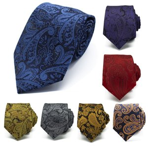 HotSale Multicolor Brown Gold Yellow Navy Blue Floral Mens Ties Neckties Pocket Square 100% Silk Woven Tie