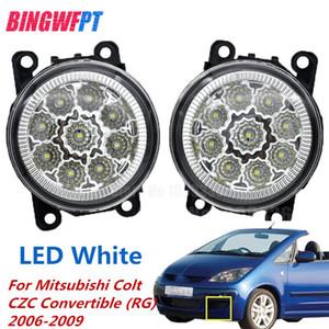 2 STÜCKE Auto Styling LED Nebelscheinwerfer weiß gelb Runde Stoßstange lampen Für Mitsubishi Colt CZC Cabrio (RG) 2006-2009