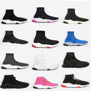 mens Unisex Sock sapatilhas tênis Speed Trainer Alta Qualidade Sock raça Corredores pretos Sapatos homens e mulheres sapatos casuais com Box