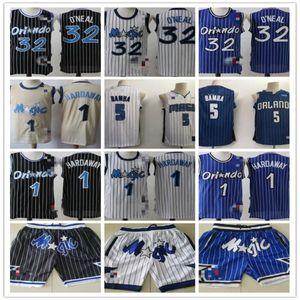MensOrlandoMagic32 ShaquilleO'Neal 1 PennyHardaway 5 MohamedBamba Basketball Shorts Basketball Jerseys