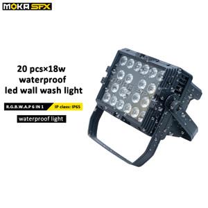 20 * 18w led wall washer imperméable à l'eau IP65 RGBW 6 en 1 LED lumière de ville de contrôle DMX laver ville effet de scène