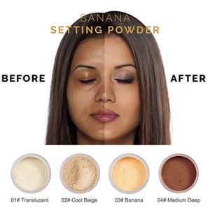 Phoera 1 مربع إعداد مسحوق فضفاض الوجه مسحوق شفافة السلس إعداد الأساس المهنية ماكياج الوجه مسحوق maquiagem