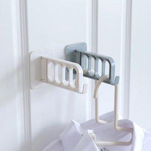 Autocollant vêtements RACCROCHAGE crochets muraux en plastique Porte-Mont Invisibilité Sucker Traceless de stockage Hanger Pliable Autocollantes