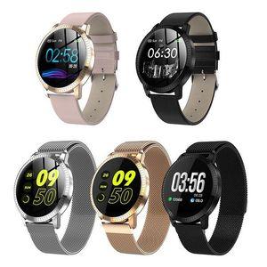 CF18 Smart Watch OLED-Farbbildschirm Smartwatch Mode Fitness Tracker Herzfrequenz-Blutdruckmessgerät für Männer-Frauen-Uhren