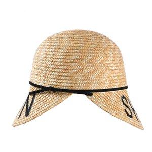 2020 новый стиль летняя Соломенная мода модель соломенные бейсболки casquette женщины ручной работы козырек шапки девушки солнце дизайнерские шляпы